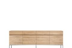 Ethnicraft - Buffet Ligna 4 portes / 4 tiroirs