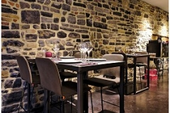 Création - Tables bois/métal pour restaurant Arte Vino