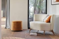 Mobitec - Fauteuil et pouf Boléro - Une chaise sur le toit