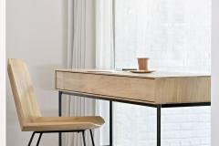 27046 Oak Facette dining chair & 51461 Oak Whitebird desk