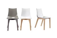 Scab Design - Chaise Zebra polycarbonate pieds bois