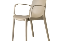 Scab design - Ginevra dove grey avec accoudoirs
