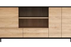 Ethnicraft - Buffet Blackbird 3 portes / 2 tiroirs
