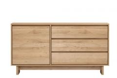 Ethnicraft - Buffet Wave 1 porte / 3 tiroirs