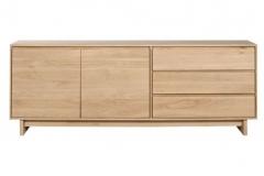 Ethnicraft - Buffet Wave 2 portes / 3 tiroirs