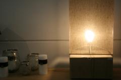 Création - Lampe à poser socle en chêne
