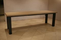 Création - Table bois / métal pour la Maison Lemonnier