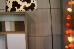Création - Lampe courbe en métal