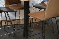 Création - Table haute métal / bois