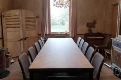 Table sur mesure métal et chêne - Une chaise sur le toit