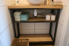 Création - Console lavabo sur mesure restaurant Carré d'herbe