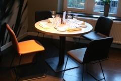 Création - Tables bois/métal Restaurant Carré d'herbe