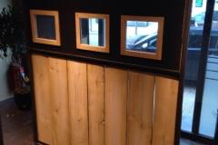 Création - Paravent métal et bois/ Sas d'entrée pour restaurant Arte Vino