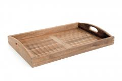 Plateau en teck Luton gescova - Une chaise sur le toit